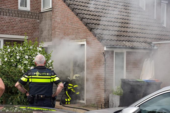 Accu van boormachine zorgt voor brand in schuur Tilburg
