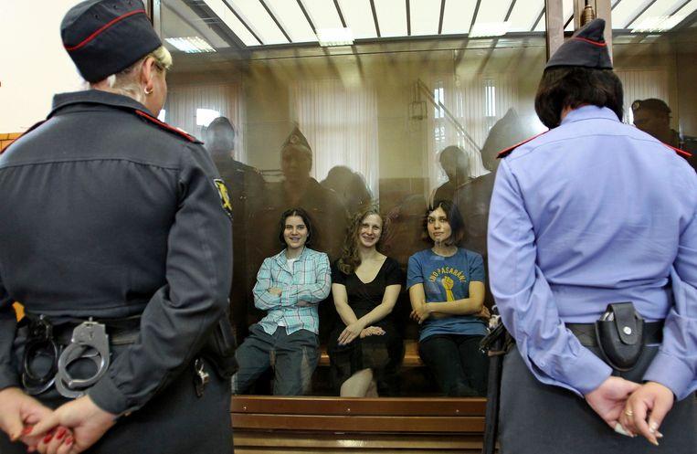 De drie vrouwen werden een tijdlang opgesloten in een Russisch strafkamp.