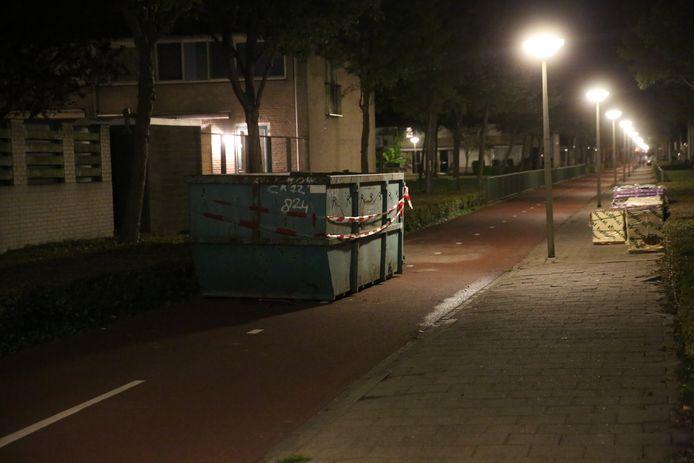 De container op het Smientpad op de Bergse Plaat in Bergen op Zoom