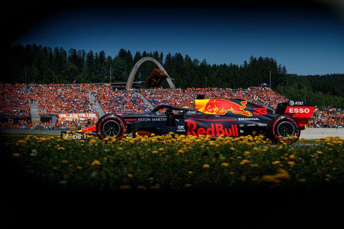 Max Verstappen in zijn Red Bull.