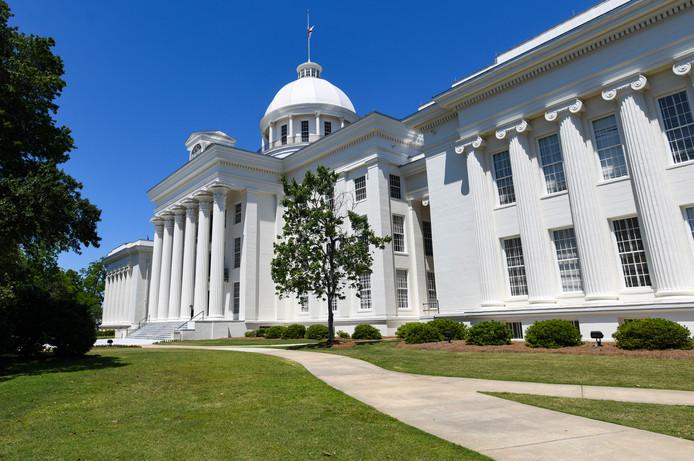 Het regeringsgebouw in Alabama.