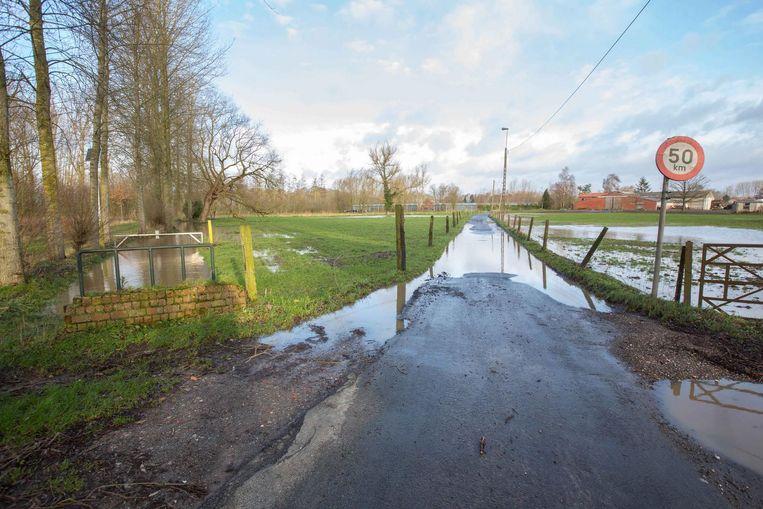 De Brabantsebeek trad buiten haar oevers.