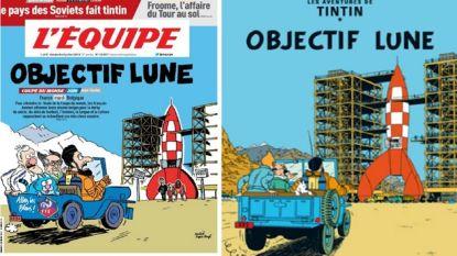 """""""De derby van de eeuw!"""" Franse krant pakt uit met fantastische cover en knipoog naar Belgische stripheld voor clash met Rode Duivels"""