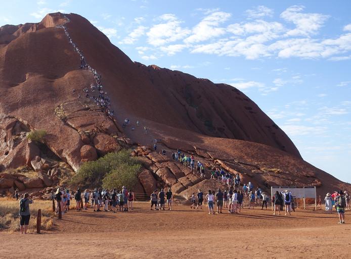 Uluru, nog net te beklimmen