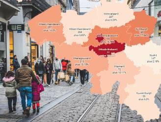 IN KAART. België kleurt minder rood, op Brussel en Waals-Brabant na. Bekijk hier de situatie in uw regio