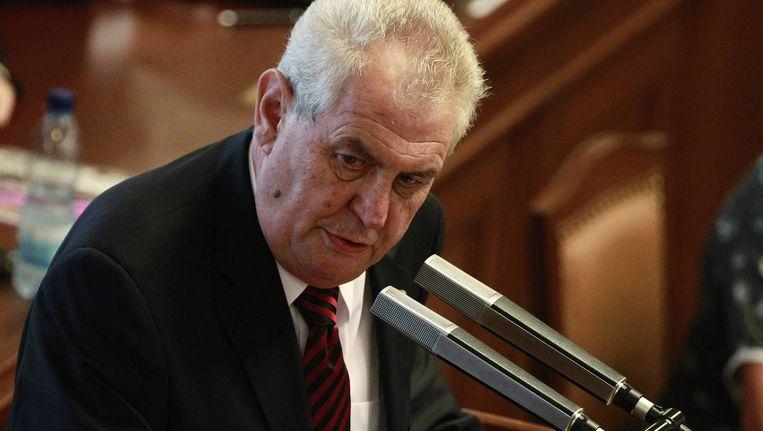 De Tsjechische president Milos Zeman.