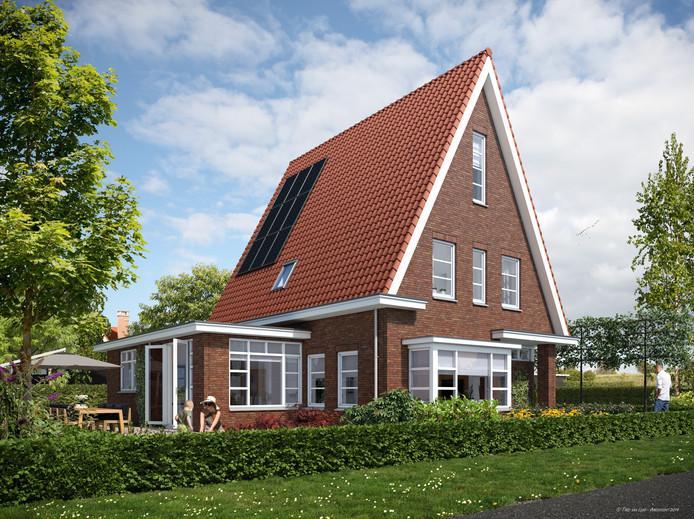 Een impressie van de nieuw te bouwen villa's in Zierikzee.