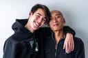 Olivier Hagen met zijn vader.