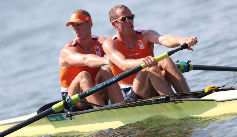 Roel Braas en Mitchel Steenman in Rio. Beeld null
