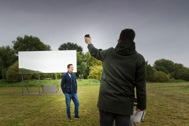 NIEUW KUNSTWERK BIJ HET SPEELHOF IN SINT TRUIDEN. FOTO TVG TONY VAN GALEN