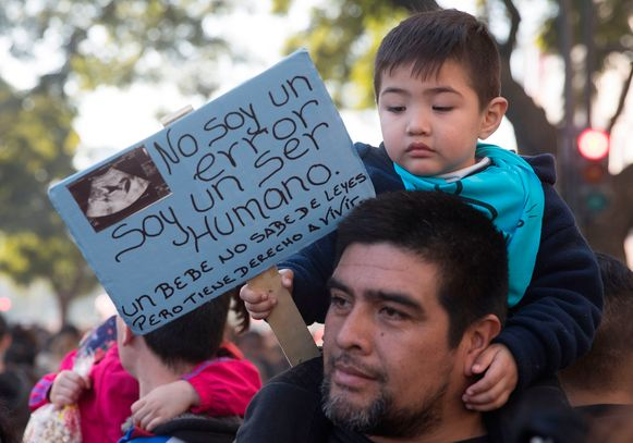 De voorbije dagen kwamen in Argentinië zowel voor- als tegenstanders van het wetsvoorstel op straat.