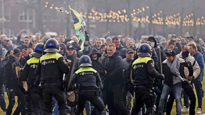 """115 arrestaties bij rellen in Amsterdam: """"Sommige betogers droegen vechthandschoenen"""""""