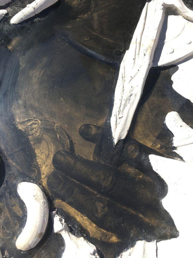 Detail van het kunstwerk Echo. Beeld Nynke Koster