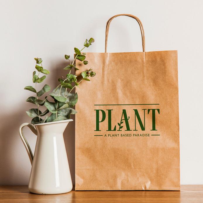 Logo van Plant, een nieuwe plant-based zaak in het centrum van Den Bosch