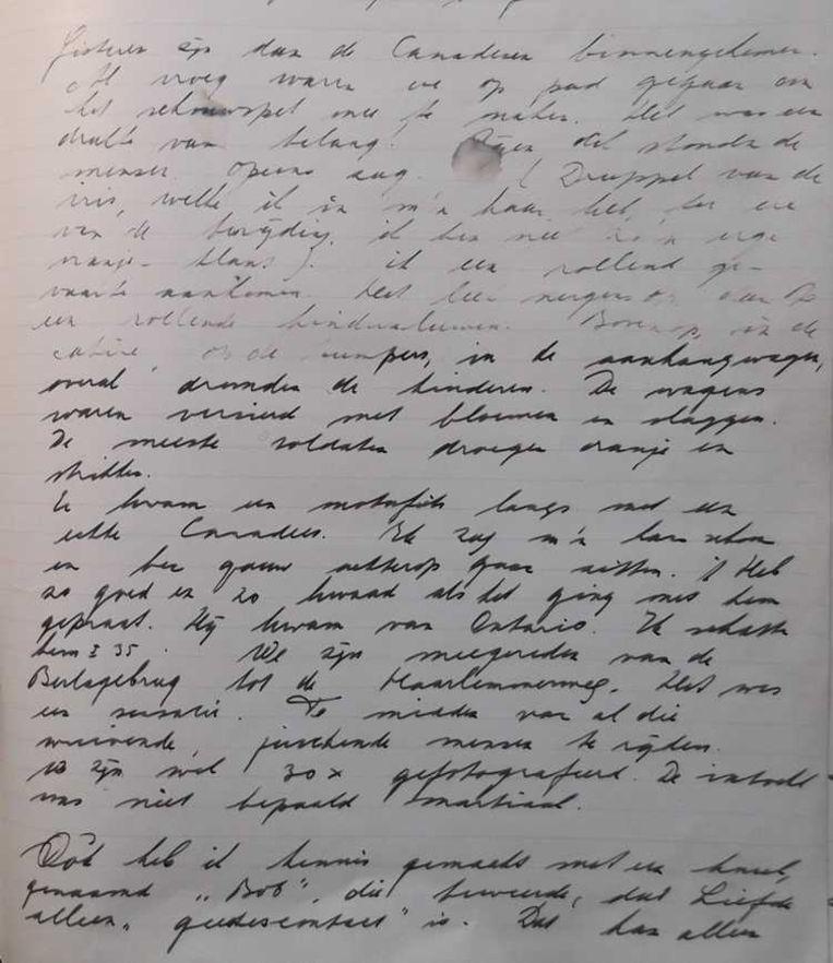 Dagboek Bep de Vries, 1945 Beeld Tessel Dekker