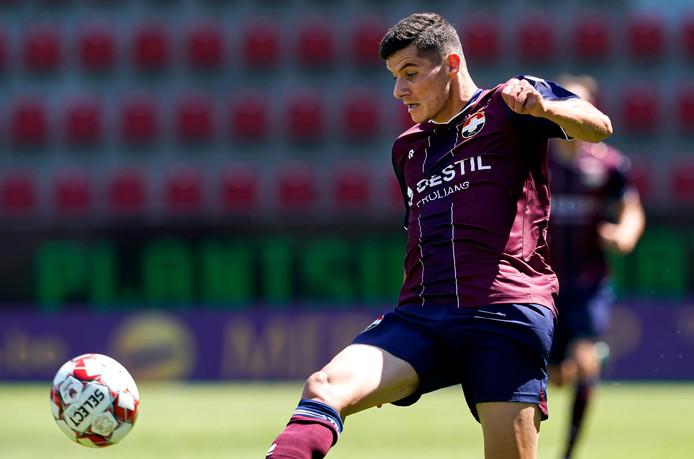 Marios Vrousai fungeert waarschijnlijk tegen Vitesse als spits bij Willem II.