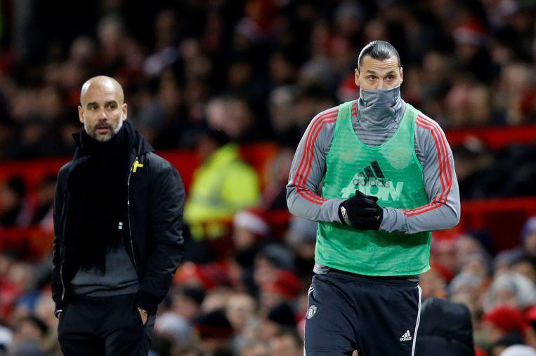 Guardiola ziet Ibrahimovic zondag opwarmen.