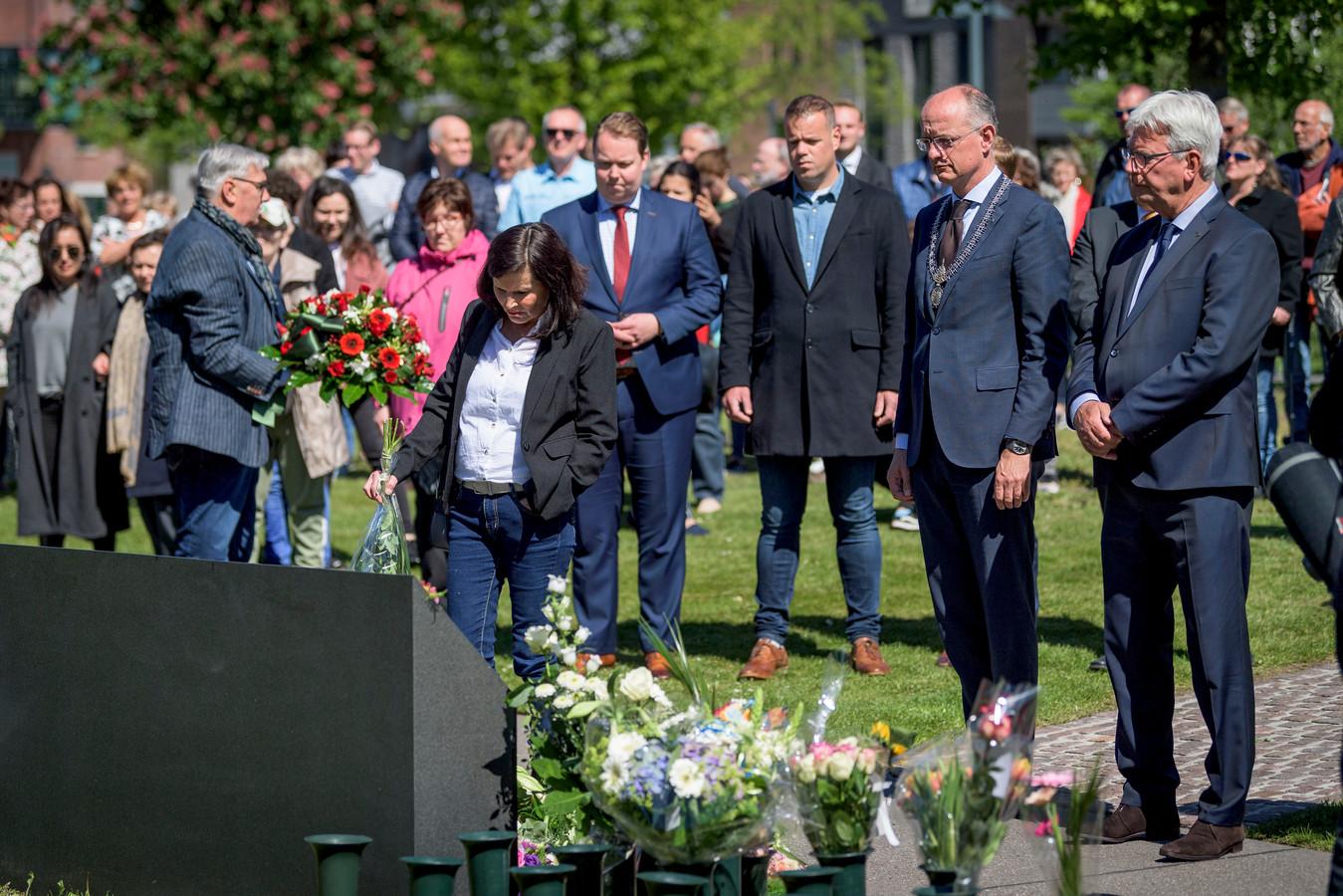 De herdenking van de vuurwerkramp in Enschede.
