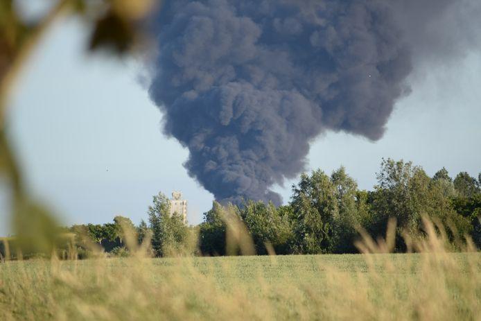 De brand in Zierikzee vanuit Noordgouwe.