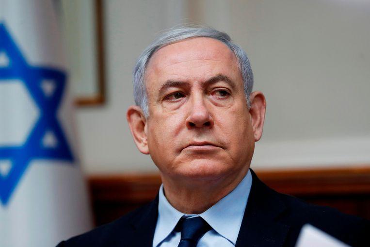 Israëlische premier Benjamin Netanyahu. Beeld AFP