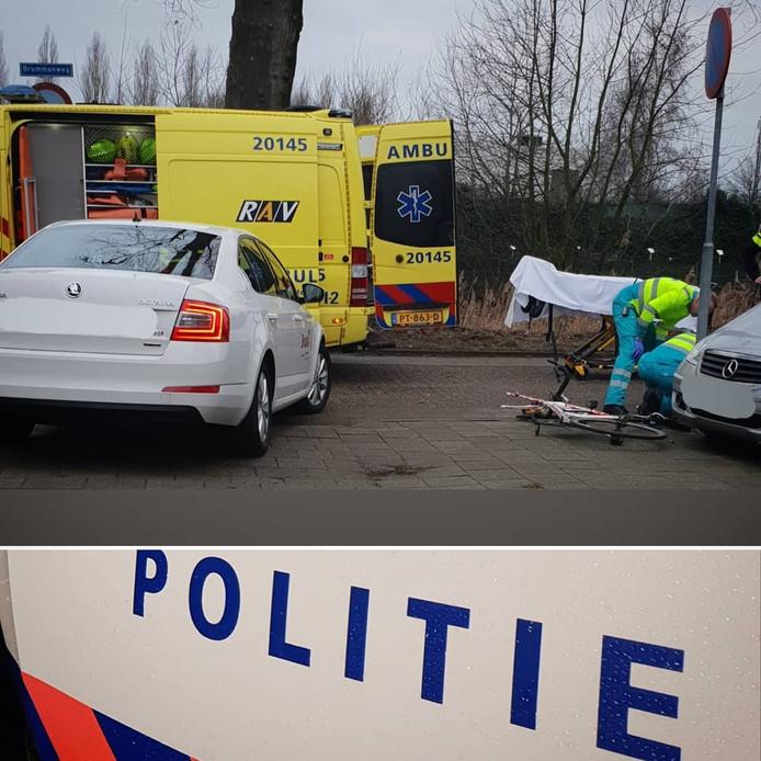 De situatie vlak na het ongeluk in Tilburg.