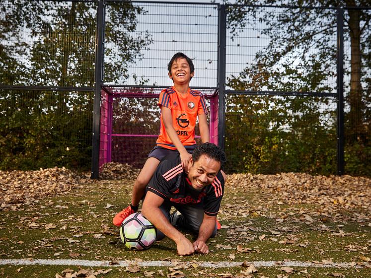 'Mam, als ik voor Feyenoord ben, wordt papa dan boos?'