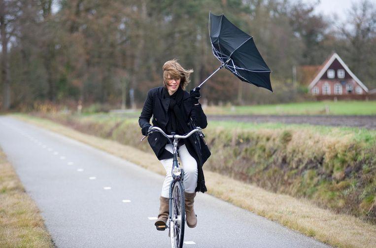 Op de fiets is het ook niet fijn. Beeld thinkstock