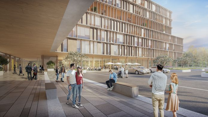 Het nieuwe ziekenhuis komt op de gronden aan camapus St.-Jan.