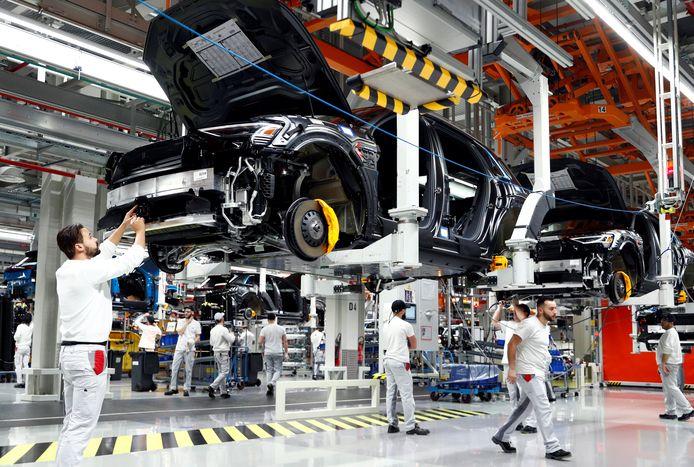 Archieffoto van de productie van de elektrische Audi e-Tron in Brussel