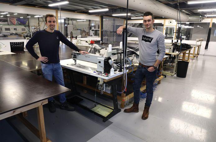 De nieuwe directie van zeilmaker Van der Sneppen, Anthony van Wijck (links) en Jan-Willem Scheele.