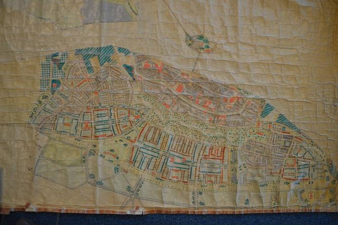 Oude plattegrond van Kampen. Foto: Stadsarchief Kampen
