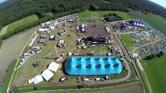 Intents Festival in Oisterwijk vanuit de lucht.