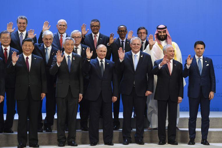 Een groepsfoto van de G20