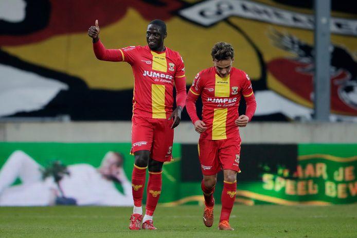Jacob Mulenga beleeft een mooi debuut voor Go Ahead Eagles.