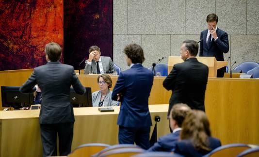De Tweede Kamer in debat over nieuwe steun aan Griekenland.