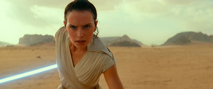 Daisy Ridley als Rey in Star Wars: The Rise of Skywalker.
