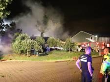 Rieten kap woonboerderij Lopik in brand
