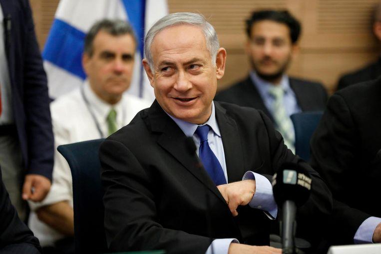 De huidige premier Benjamin Netanyahu Beeld epa