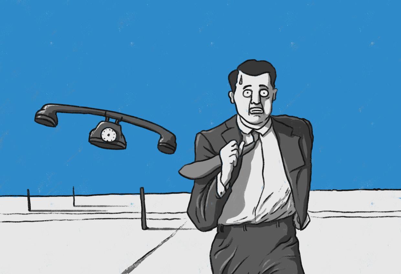Bijna 40 procent van de mensen tussen de 18 en 30 jaar bleek bang om te bellen of om gebeld te worden. Dat kan vooral in werksituaties lastig zijn.  Beeld Matteo Bal