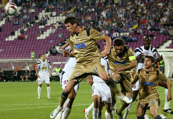 Mario Mandzukic in het shirt van Dinamo Zagreb.