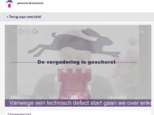 Eerste digitale raadsvergadering Bronckhorst faliekant mislukt: geen geluid, te late start en plots einde