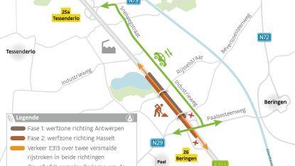 Vier maanden lang werken aan E313 vanaf complex Beringen