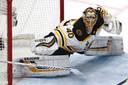 De uitblinkende doelman Tuukka Rask van de Bruins