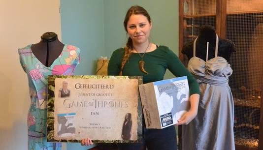 Tirza Schouten na haar verkiezing tot grootste Game Thrones fan van Nederland.