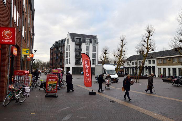 Het U-blok bij winkelcentrum de Biezenkamp in Leusden.