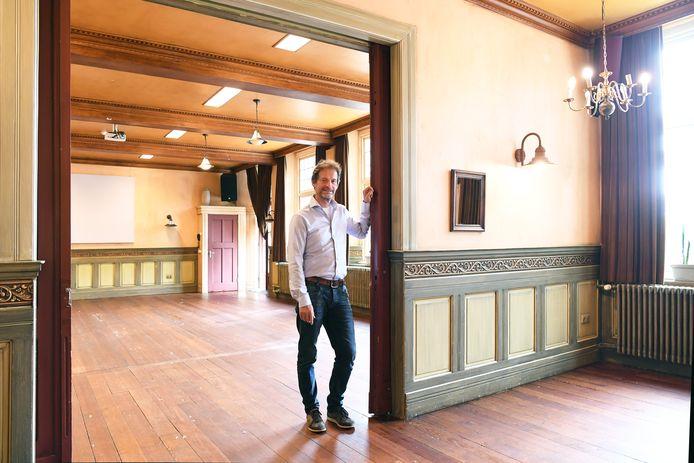 Lege zalen in de groepsaccommodaties van Bart van Knegsel, zoals hier in de Beukenhof in Biezenmortel.