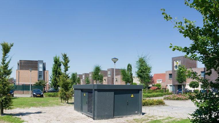 De behuizing van de slimme batterij van Enexis in Etten-Leur. Beeld Enexis