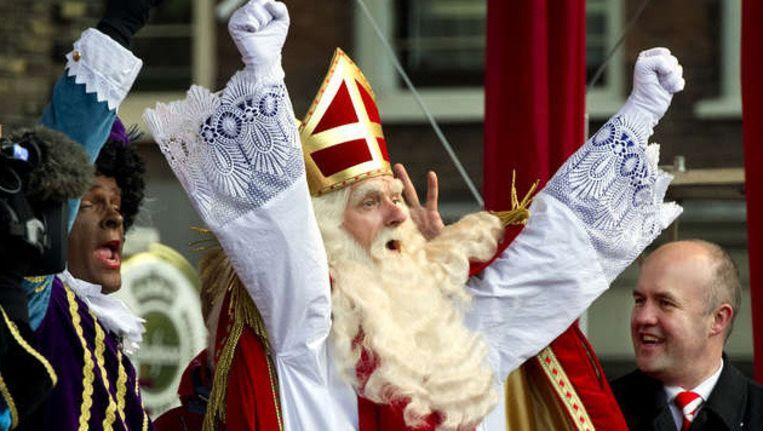 Sinterklaas bij zijn aankomst in Dordrecht op 12 november.