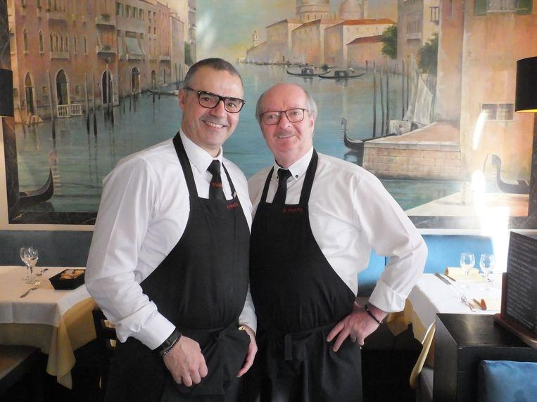 Vincenzo Gorgoglione met medezaakvoerder Damiano De Feudis in Il Punto. Springlevend en in goede gezondheid.