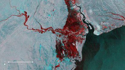 Nieuwe satellietbeelden tonen gigantische omvang van overstromingen in Mozambique